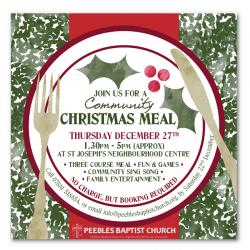 Ho-ho- ho and hot pots at the Community Christmas Meal
