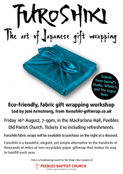 Fabulous Furoshiki folding for fundraising