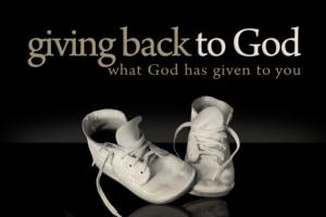 Giving back to God