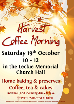 Harvest Coffee Morning poster