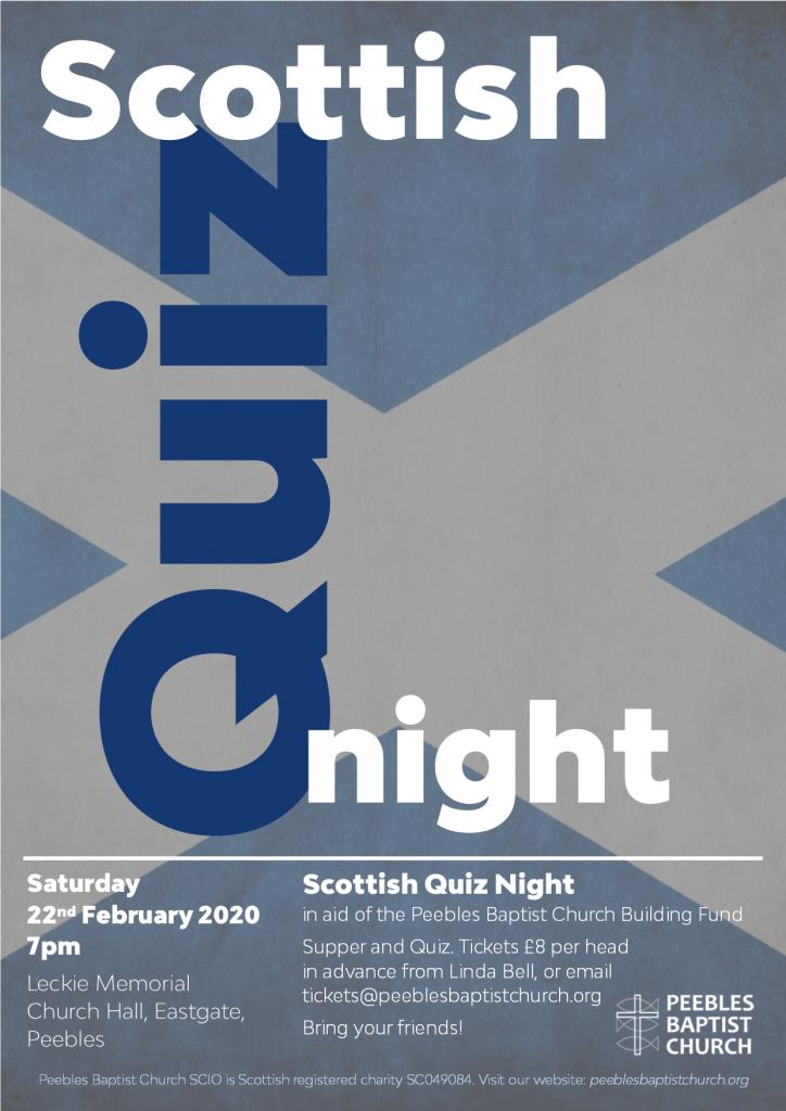 Scottish Quiz Night