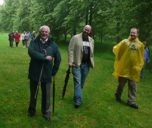 Men's group walk